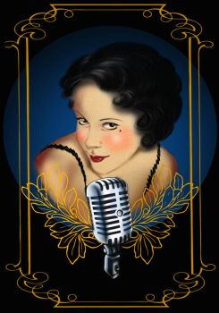 Sing Pinup by guinhotattoo