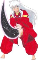 Inuyasha and Meidou Zangetsuha by EstherXiao