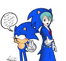Collab/Crossover  Sonic and Miku! by MrTumminia