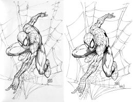 Spider-Man Mike Turner (Ink Commission) by ernestj23