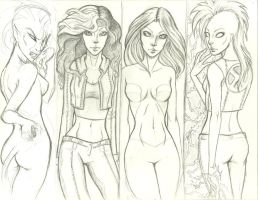 More Xmen Sketchiness by misschievious