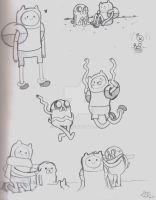 Adventure Time Sketches 6 by Celebi9