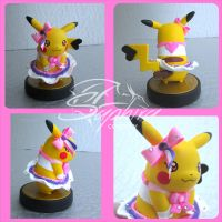pikachu amiibo customization: ORAS cute contest by SingingNight
