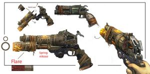 Bulletstorm Weapon Concept art by JohnMcCambridge