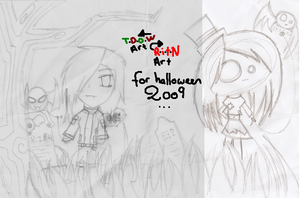 Halloween Sketch Collab by A-McQ