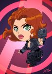 Avengers Black Widow Art Card by kevinbolk