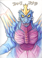 SpaceGodzilla by fairy-mothra