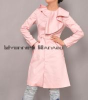Pink Cotton Ruffles Coat 13 by yystudio