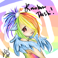 Rainbow Dash Gijinka ! by xStarry-Night