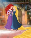 Rapunzel and Merida's Serenade by mandygirl78