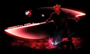 Darth Maul approaching by DromCZ