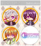 Brothers Conflict Button set by jinyjin
