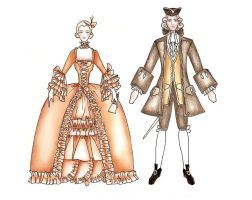 1750 costume by DreamyNaria