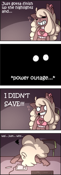 Power Outage for Kitty [OC] by senpaimisskitty