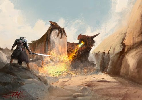 Dragon practise by Hilaz