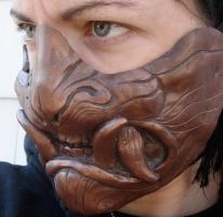 Cold cast copper demon mask by missmonster