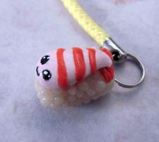 Sushi cell phone charm by carmendee