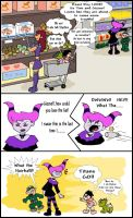 Shopping -Baby Titans by LibraryNinja