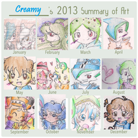 2013 Summary Of My Art by CaramelCreampuff