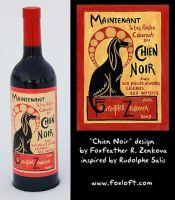 Chien Noir Wine Label by Foxfeather248