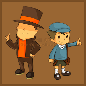 Professor Layton chibis by london16