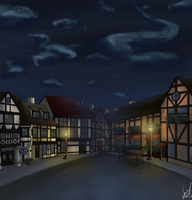 Town Scene 1 by Sara-Mapes