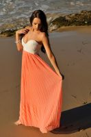 Annali - orange and white dress 2 by wildplaces