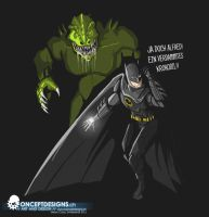 Bat meets Killer Croc by cossyconceptart