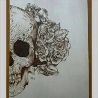 skull and roses by snaplilly