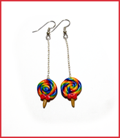 Rainbow Lollipops earrings by CookingMaru