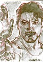 tony stark card by Kevin-Sharpe