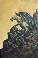Perching Dragon by Morhin