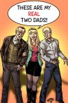 Gwen Stacy's two fathers by MatiasSoto