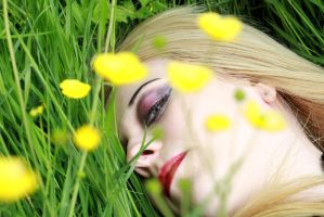 Amy and buttercups by Tiger--photography