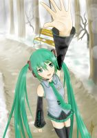 Miku in Winter by Rvinguard