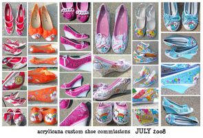 Commissioned Shoes July by marywinkler