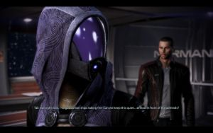 ME3 Normandy - Alan Shepard and Tali 3 by chicksaw2002