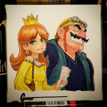 Daisy and Wario by Omar-Dogan