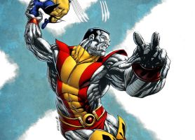 X-Men Month Colossus colored by RobertAtkins