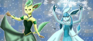 Frozen Eeveelution by JackFrostOverland