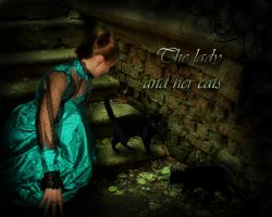 Lady with cats for Jocelyne by Lirulin-yirth
