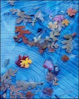 Autumn Leaves in Ice by GuyTal