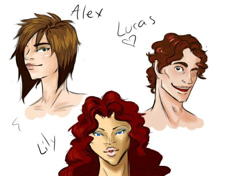 Alex-Lucas and Lily by FortuneWish
