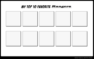 Top 10 favorite Rangers by Dragonprince18