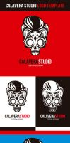 Calavera Studio Logo Vector Template by odindesign