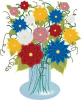 flowers in vase by Stacey1mb