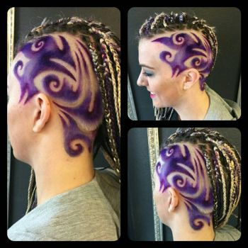 hairtattoo purple by AngeLee-Loo