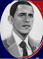 Barack Obama Red White n Blue by CezLeo