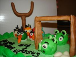 Angry Birds Cake by EzmasFortune