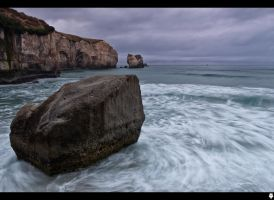 Tunnel Beach Rock 3 by shadowfoxcreative